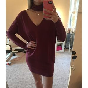 Express Collared Sweater Dress